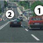 kretanje vozila po putu u naselju: