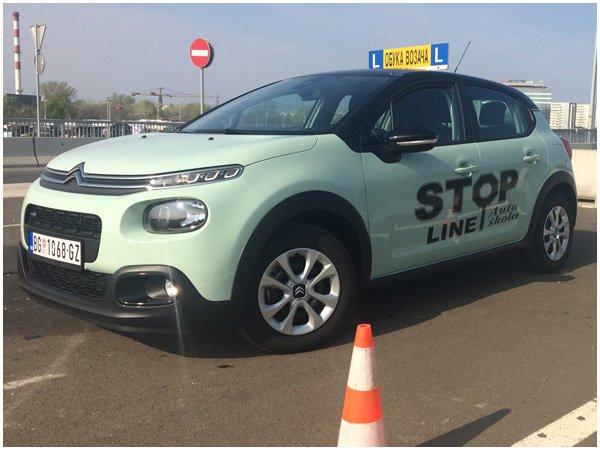 auto-skola-stop-line-vozilo-citroen-c3