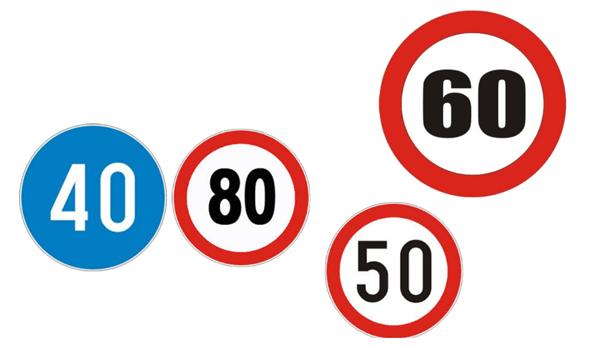 Saobraćajni znakovi izričite naredbe o ograničenju brzine