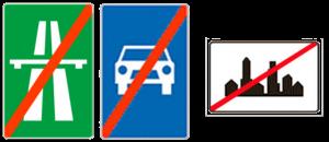 Ograničenje brzine van naselja znak