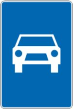 Ograničenje brzine na motoputu znak