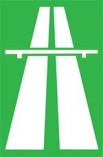 Ograničenje brzine na Autoputu znak