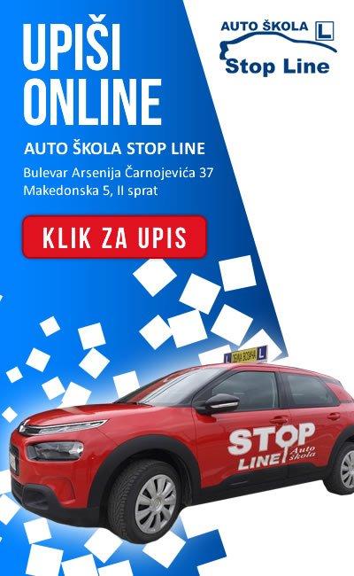 Auto skola stop line baner upis
