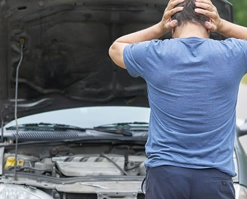 pokvaren auto